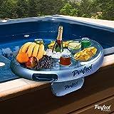 Offizielle 'Perfect Pools' Spa Bar Aufblasbare Whirlpool Tisch für Getränke und Snacks - Perfekt für Pool Parties!