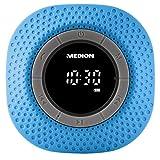 MEDION LIFE E66554 MD 43554 Duschradio mit Bluetooth, 20 Watt, PLL UKW, IPX7, eingebauter Akku, blau