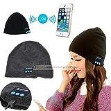 Fone-Case BlackBerry DTEK70 / BlackBerry Mercury (Black) Wireless Bluetooth Beanie-Hut mit Stereo-Kopfhörer-Headset-Lautsprecher und Hands-Free Built-In