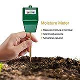 MoonCity Feuchtigkeitssensor für den Boden, Messgerät für Pflanzenerde, Garten, Bauernhof, Rasen, drinnen und draußen, kein Batterien erforderlich