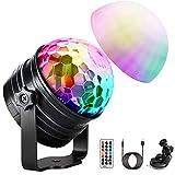 LED Discokugel (Upgrade) OMERIL Discolicht Musikgesteuert Disco Lichteffekte RGB Partylicht,...