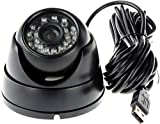 ELP 1MP Webcam USB Tag Nachtsicht-Innen- & Außen Cctv 720P USB Dome Housing Kamera Vandalensichere...