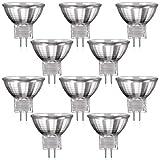 10er Set MR11 Halogen Strahler mit GU4 Sockel von parlat (warm-weiß, 12 Volt AC, 20 Watt, Lampe, Leuchtmittel, Haushaltspack, 12V, 20W)