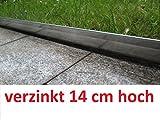 Rasenkante 10 m verzinkt Beeteinfassung Beetumrandung Mähkante Metall Palisade neu