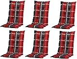 6 x 8 cm Luxus Hochlehner 'B 253', grau anthrazit rot kariert