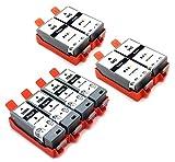 8x Druckerpatronen kompatibel zu PGI-35 Schwarz CLI-36 Farbe für Canon Pixma IP110/IP100/Mini 260 Portable IP100 V