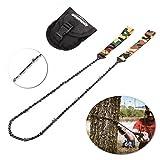 Overmont Handkettensäge Kettensäge Ast-Säge Gartensäge mit 16 Zähnen aus Stahl Outdoor für Camping Garten Survival (130cm)