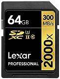 Lexar Professional 64GB 2000x Speed SDXC UHS-II Speicherkarte mit Kartenlesegerät