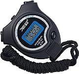 Stoppuhr,BizoeRade Digitale Stoppuhr Timer Handheld Digital Stoppuhr für Sports Training , Schwarz,5 Sprachen Broschüre