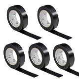 5 Rollen VDE Isolierband Isoband Elektriker Klebeband PVC 15mm x 10m DIN EN 60454-3-1 Farbe: schwarz