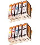 Start - 2 Sätz = 10 kompatible CHIP Patronen - je 2 x Black (groß + klein), Cyan, Magenta, Yellow - Druckerpatronen fuer Canon Pixma IP 4200, IP 4300, IP 4500, IP 5200, IP 5200R, IP 5300 MP 500 530 600 600R 800 800R 810 830 - Sofortiges Einsetzen der Tintenpatrone ohne Adapter - kein Chipumbau wie bei den Orginalpatronen - 100% Füllstandsanzeige - Top Tinte - Qualitäts Ersatzpatrone