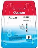 Canon Tintenpatrone CLI-8 C für iX4000/5000, iP6600D/6700D, iP4200/4300/4500/5200/5200R/5300/Pro 9000 (II) und MP500/530/600/600R/610/800/800R/810/830/970, MX700/850, Cyan