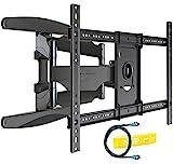 Invision® TV Wandhalterung - Ultrastarker Doppelarm - Schwenkbar Neigbar für 94 - 178 cm (37 - 70 Zoll) - Halterung für LED LCD OLED Plasma & Curved Fernseher - VESA 200 x 200 - 400 x 600 inklusive HDMI Kabel & Wasserwaage (HDTV-DXL)