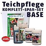 AQUALITY Komplett Teichpflege-Set BASE (GRATIS Lieferung innerhalb Deutschlands - Perfekte Pflege für Ihren Gartenteich. Wasseraufbereiter, Teichklärer, Teich-Aktiv und Fadenalgenvernichter im Spar-Set + GRATIS Filtervlies)