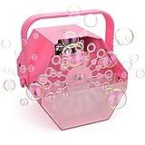 LifeBasis Tragbare Seifenblasenmaschine Automatischer Seifenblasen Bubbles Maker Machine Outdoor Indoor Seifenblasenwerfer für Hochzeit Starker Ausstoß Party Rosa