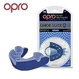 OPRO Mundschutz Silver Junior - Kinder Zahnschutz- für Handball, Rugby, Karate, Hockey, MMA, Boxen - selbst anformbar - mit Zahngarantie von bis zu 7.500 € - im UK entworfen & hergestellt
