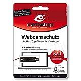Camstop Webcam-Schutz schwarz - Mit Warnsymbol bei aufgeschobenem Zustand - Die Abdeckung gegen...