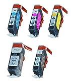 10er Set kompatible Druckerpatronen ersetzt Canon PGI-520bk CLI-521bk CLI-521c CLI-521m CLI-521y passend zu folgend Druckern:Canon PIXMA iP3600, iP4600, iP4700, MP540, MP550, MP560, MP620, MP630, MP640, MP640R, MP980, MP990, MX860, MX870, MX870 Office