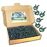 MGS SHOP Pflanzen Clips & - Binder stabile Pflanzenclips Pflanzenklammern für kleine & große Triebe Spaliere Rosenbögen Rankhilfen