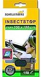 Schellenberg 50329 Fliegengitter mit Reißverschluss | perfekter Insektenschutz für Dachfenster | Maße: 150 x 180 cm | anthrazit | UV-stabil | einfache Montage ohne bohren | inkl. Befestigungsband