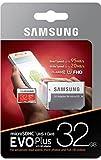 Samsung EVO Plus Micro SDHC 32GB bis zu 95MB/s, Class 10 U1 Speicherkarte (inkl. SD Adapter)...