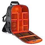 Neewer Pro Kamera Fall wasserdicht stoßfest 30 x 14 x 37 Zentimeter Kamera Rucksack mit Stativhalterung für DSLR, spiegellose Kamera, Blitz oder anderen Zubehör (orange innen)