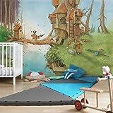 Vliestapete–Wassili und Familie Fuchs–Wandbild breit