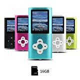 Btopllc MP3-Player, MP4-Player, Digitale Musik-Player 16 GB Interne Speicherkarte, Tragbare und kompakte MP3/MP4-Musik-Player, Media Player, Video Player, Ebook, Bild Musik-Player - Blau