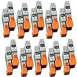 No-Name Kompatibel Ersatz 10Set 20Stück BCI-21BCI-24BCI21BCI-21BK Tintenstrahl Patronen für Canon bjc-2000sp/2100/2100SP/4000/41004200/4200SP 4300/Inkjet Drucker (10x Schwarz, 10Dreifarbig)
