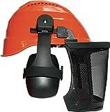 Forst- Kopfschutz - Kombination Orange