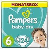 Pampers Baby Dry Windeln, für atmungsaktive Trockenheit, Gr. 6 (13-18 kg), Monatsbox, 1er Pack (1 x 124 Stück)