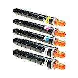 5 Toner für Canon Imagerunner IR Advance C 2000 Series 2020 2025 2030 2220 225 2230 I LI - 3782B002 3785B002 - Schwarz je 23.000 Seiten, Color je 19.000 Seiten
