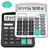 Taschenrechner, Splaks 2 Pack 12-stellig Standard Funktion Tischrechner Bürorechner Rechenmaschine...