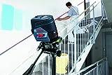 Bosch Professional Linienlaser GCL 2-50 C mit App Funktion, 1 x 12V 2,0 Ah Akku, Ladegerät, Dreh- und Wandhalterung, Zieltafel, Schutztasche, L-BOXX (12 Volt, 2,0 Ah, Messweite: 50m)