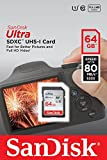 SanDisk Ultra SDXC I 64 GB bis zu 80 MB/Sek, Class 10 Speicherkarte [Frustfreie Verpackung]