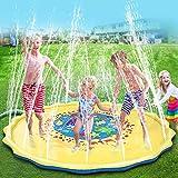 Splash Pad, 68 Zoll Wasser-Spielmatte Sprinkler und Splash Play Matte Wasserspielzeug Spielmatte Kinder Baby Pool Pad Outdoor Sommer Garten Spielzeug für Familie Aktivitäten/Party/Strand/Garten