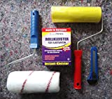 4 tlg.Tapezierset: Rollkleister für 20m² + Kleisterroller - Tapetenandrückroller + Cuttermesser
