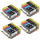 20x Tintenpatronen mit Chip kompatibel zu PGI-520bk / CLI-521bk / CLI-521c / CLI-521m / CLI-521y. Sie erhalten 4x kompletter Satz Patronen für für Canon PIXMA IP 3600 IP 4600 IP4600 X IP4700 MP 540 MP 550 MP 560 MP 620 MP 630 MP 640 MP 980 MP 990 MX 860 MP550 MP540 MP560 MP620 MP630 MP640 MP980 MP990 MX860
