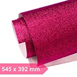 Kultloggen Glitzerpapier Pink Glitzer Papier Glänzend Bastelpapier Glitter Geschenkpapier Faltpapier Rolle Sparkling für Fotografie Hintergrund DIY Handwerk (545 x 392 mm)