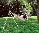 AMAZONAS Hängemattengestell MADERA EIN-Baumersatz aus wetterfestem Eschenholz ca. 165 cm bis 100 kg