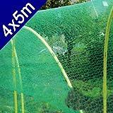Vogelnetz 4x5 m, Kunststoff,Vogel Pflanzen Baum Gemüse Teich Maschen Schutz Netz (LHS)