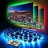 LED TV Hintergrundbeleuchtung, infinitoo LED Strip 4 * 50CM Set, Usb LED Streifen 5050 RGB mit Fernbedienung, LED TV Beleuchtung für 40-60 Zoll TV, Fernseher, PC-Monitor, Desktop, Tische