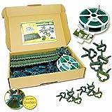 Pflanzen Clips & - Binder stabile Pflanzenclips Pflanzenklammern für kleine & große Triebe Spaliere Rosenbögen Rankhilfen (100er-Set MIXED + Draht 30m)