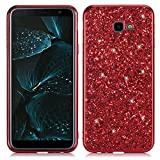 HUDDU Hülle Galaxy J4 Plus Glitzer Bling Glitter TPU Case Hart PC Bumper Hard Back Cover Full Body...