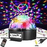 Discokugel,SOLMORE LED Discokugel Kinder Partylicht Disco Lichteffekte mit Fernbedienung Discolicht...