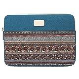 15 Zoll Laptophülle, Bohème Stil Canvas-Gewebe Hülle Sleeve Tasche für Laptop / Notebook...