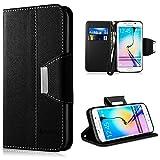 Samsung Galaxy S6 Edge Hülle,Vakoo [Bookstyle] Handyhülle Premium PU-Leder Tasche Etui...