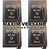 4x MAXIMPRINT XXL Tinten-Patronen SET kompatibel zu Canon BC-02 BJC-210 BJC-240 BJC-250 BJC-251 BC-01 BX-02