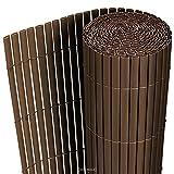[neu.haus] PVC Sichtschutzmatte (150x300cm) (grau) Sichtschutz / Windschutz / Gartenzaun / Balkon Umspannung / Zaun
