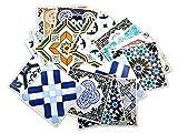 Traditionelle Spanische Fliesenaufkleber Wanddeko Ideen (Packung mit 32) - 10 x 10 cm